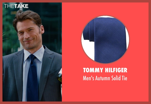 Tommy Hilfiger blue tie from The Other Woman seen with Nikolaj Coster-Waldau (Mark King)