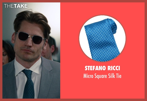 Stefano Ricci	 blue tie from The Other Woman seen with Nikolaj Coster-Waldau (Mark King)