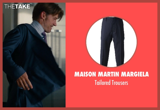 Maison Martin Margiela blue trousers from The Other Woman seen with Nikolaj Coster-Waldau (Mark King)