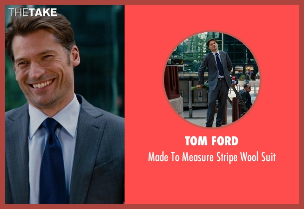 Tom Ford gray suit from The Other Woman seen with Nikolaj Coster-Waldau (Mark King)