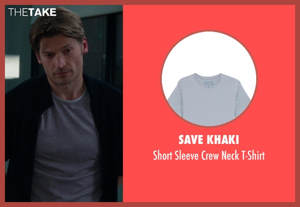Save Khaki gray t-shirt from The Other Woman seen with Nikolaj Coster-Waldau (Mark King)