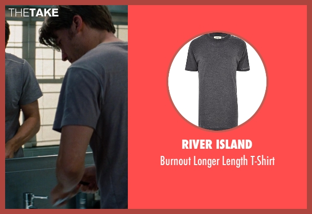 River Island gray t-shirt from The Other Woman seen with Nikolaj Coster-Waldau (Mark King)