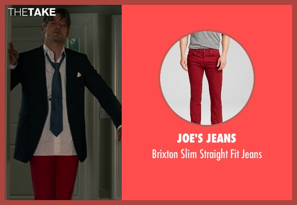 Joe's Jeans red jeans from The Other Woman seen with Nikolaj Coster-Waldau (Mark King)