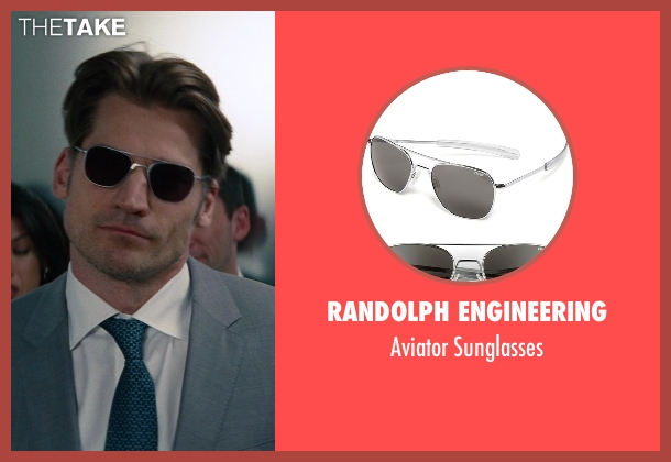 Randolph Engineering silver sunglasses from The Other Woman seen with Nikolaj Coster-Waldau (Mark King)