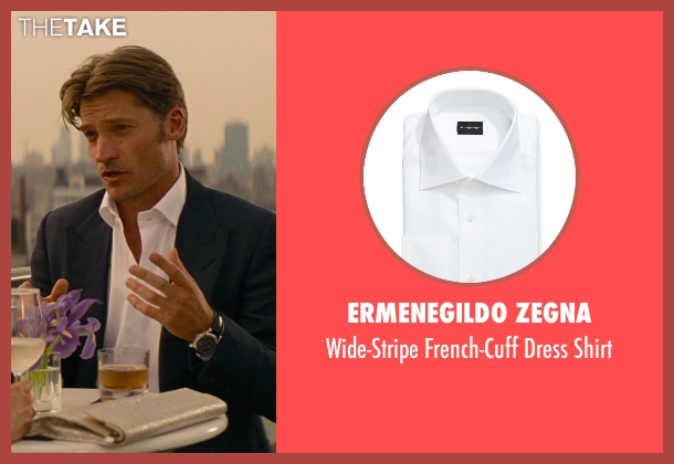 Ermenegildo Zegna white shirt from The Other Woman seen with Nikolaj Coster-Waldau (Mark King)