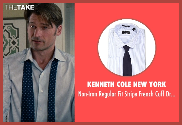 Kenneth Cole New York white shirt from The Other Woman seen with Nikolaj Coster-Waldau (Mark King)