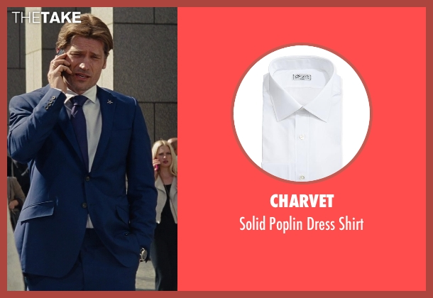 Charvet	 white shirt from The Other Woman seen with Nikolaj Coster-Waldau (Mark King)