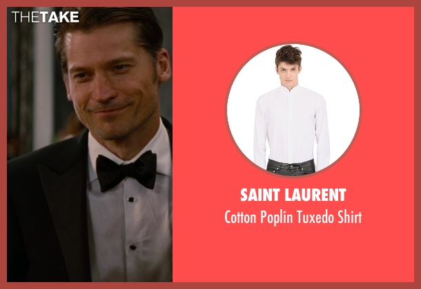 Saint Laurent white shirt from The Other Woman seen with Nikolaj Coster-Waldau (Mark King)