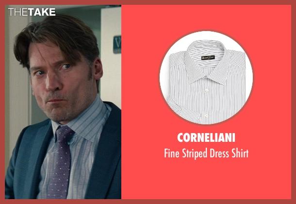 Corneliani white shirt from The Other Woman seen with Nikolaj Coster-Waldau (Mark King)