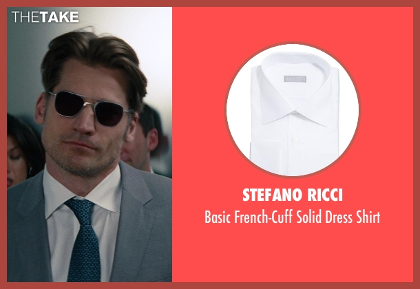 Stefano Ricci white shirt from The Other Woman seen with Nikolaj Coster-Waldau (Mark King)
