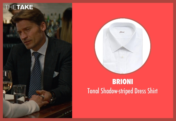 Brioni white shirt from The Other Woman seen with Nikolaj Coster-Waldau (Mark King)