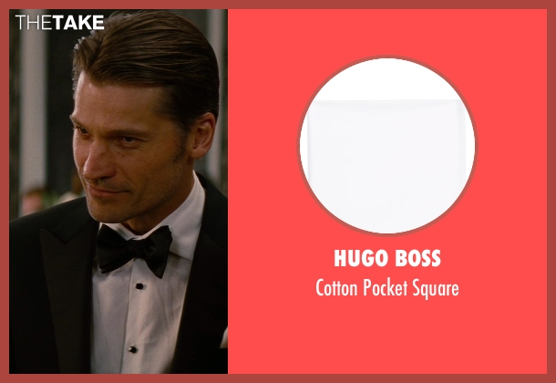Hugo Boss white square from The Other Woman seen with Nikolaj Coster-Waldau (Mark King)