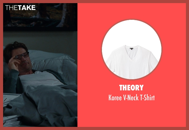 Theory white t-shirt from The Other Woman seen with Nikolaj Coster-Waldau (Mark King)