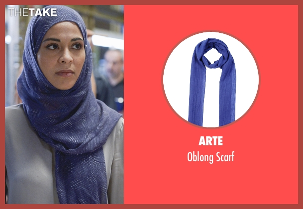 Arte blue scarf from Quantico seen with Nimah Amin (Yasmine Al Massri)