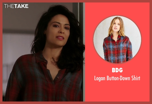 BDG red shirt from Quantico seen with Nimah Amin (Yasmine Al Massri)