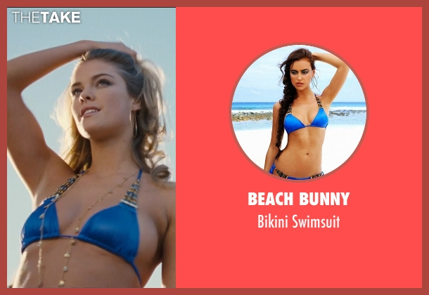 Beach Bunny blue swimsuit from Entourage seen with Nina Agdal (Bridget )