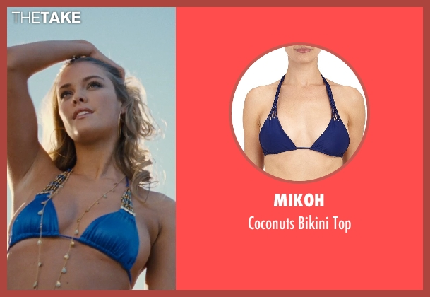 Mikoh blue top from Entourage seen with Nina Agdal (Bridget )