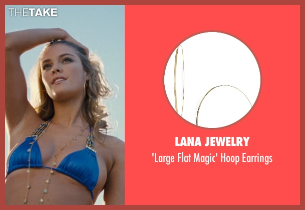 Lana Jewelry gold earrings from Entourage seen with Nina Agdal (Bridget )