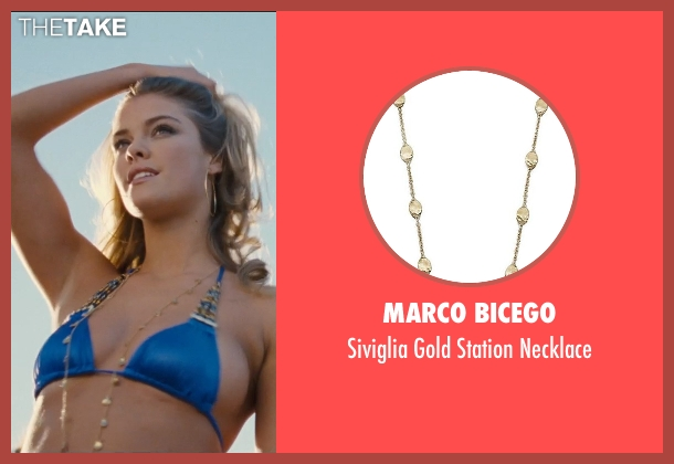 Marco Bicego gold necklace from Entourage seen with Nina Agdal (Bridget )