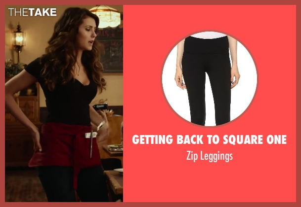 Getting Back To Square One black leggings from Let's Be Cops seen with Nina Dobrev (Josie)