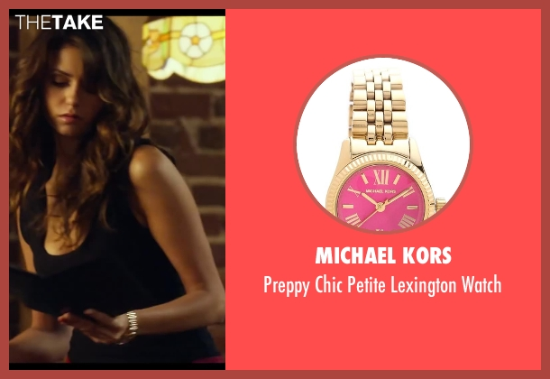 Michael Kors gold watch from Let's Be Cops seen with Nina Dobrev (Josie)