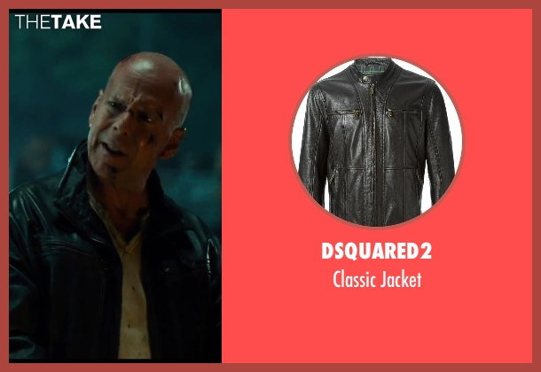 Dsquared2 black jacket from A Good Day to Die Hard seen with No Actor (John McClane)