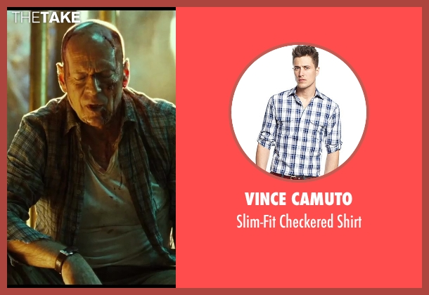Vince Camuto blue shirt from A Good Day to Die Hard seen with No Actor (John McClane)