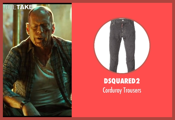 Dsquared2 gray trousers from A Good Day to Die Hard seen with No Actor (John McClane)