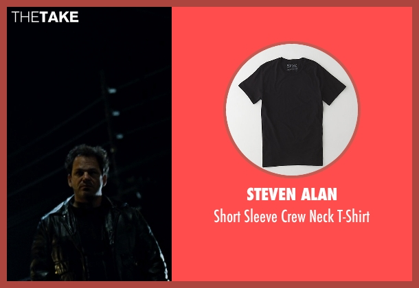 Steven Alan black t-shirt from Fight Club seen with Unknown Actor (Unknown Character)