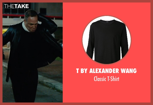 T By Alexander Wang black t-shirt from Focus seen with No Actor (Unknown Character)