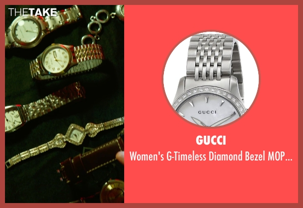 Gucci silver watch from Focus seen with No Actor (Unknown Character)