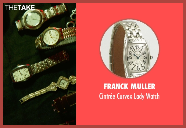 Franck Muller silver watch from Focus seen with No Actor (Unknown Character)