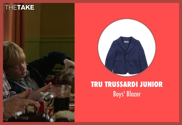 Tru Trussardi Junior blue blazer from If I Stay seen with No Actor (Teddy Hall)