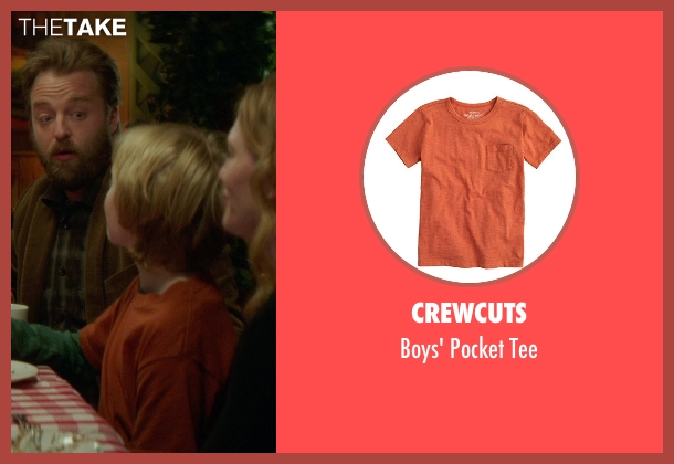 Crewcuts brown tee from If I Stay seen with Jakob Davies (Teddy Hall)