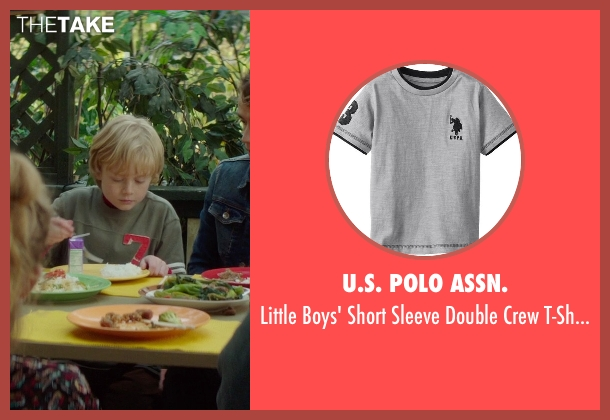 U.S. Polo Assn. gray t-shirt from If I Stay seen with No Actor (Teddy Hall)