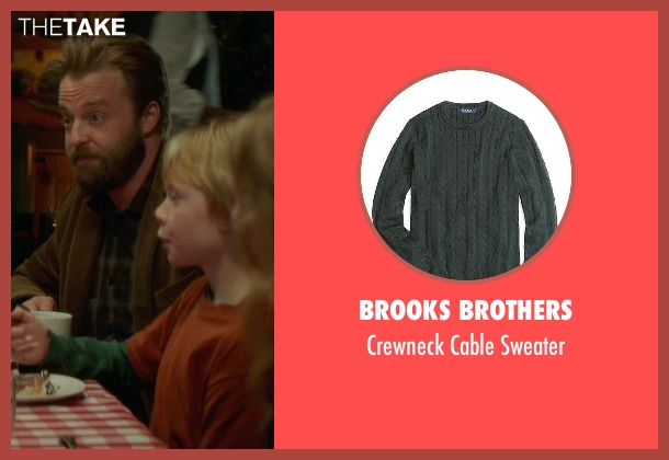 Brooks Brothers green sweater from If I Stay seen with Jakob Davies (Teddy Hall)