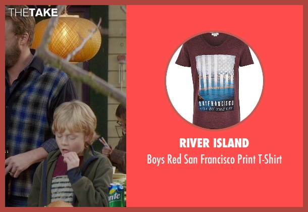 River Island red t-shirt from If I Stay seen with No Actor (Teddy Hall)