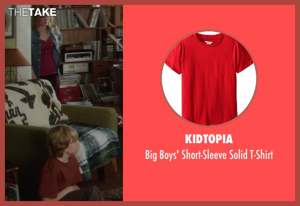 Kidtopia red t-shirt from If I Stay seen with No Actor (Teddy Hall)