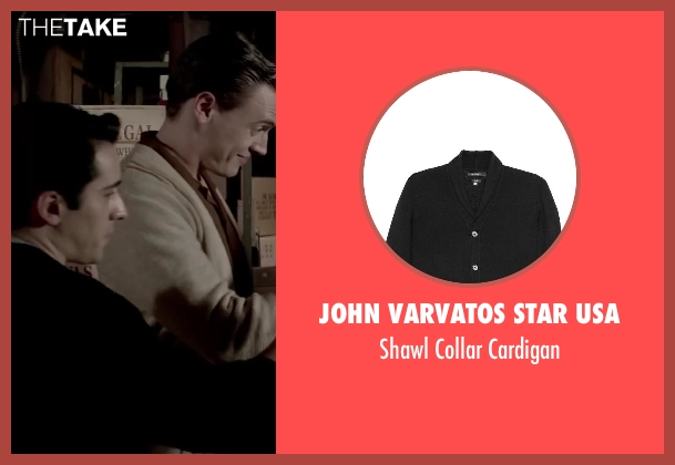 John Varvatos Star USA black cardigan from Jersey Boys seen with No Actor (Frankie Valli)