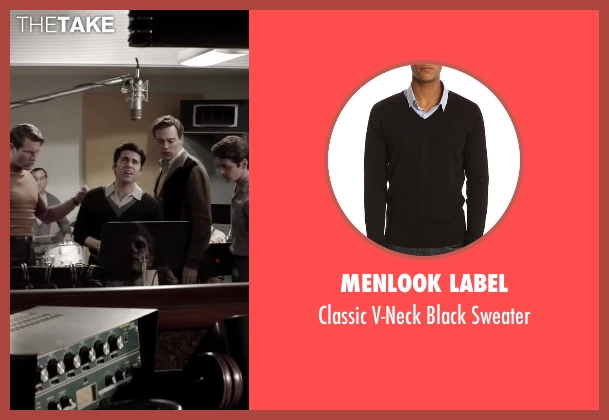 MENLOOK LABEL black sweater from Jersey Boys seen with No Actor (Frankie Valli)