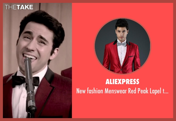 Aliexpress red tuxedo from Jersey Boys seen with No Actor (Frankie Valli)
