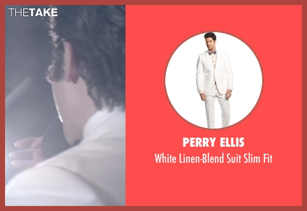 Perry Ellis white fit from Jersey Boys seen with No Actor (Frankie Valli)