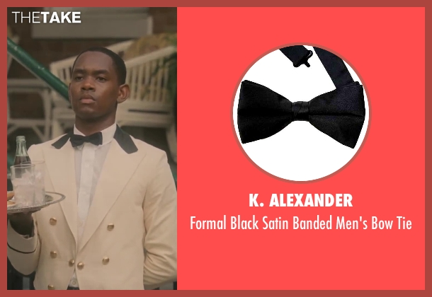 K. Alexander black tie from Lee Daniels' The Butler seen with No Actor (Cecil Gaines (15yrs old))