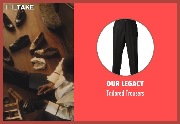 Our Legacy black trousers from Lee Daniels' The Butler seen with No Actor (Cecil Gaines (15yrs old))