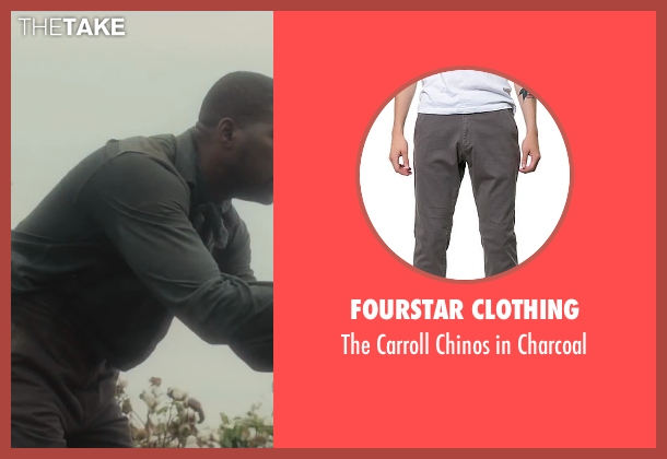 Fourstar Clothing gray charcoal from Lee Daniels' The Butler seen with No Actor (Earl Gaines)