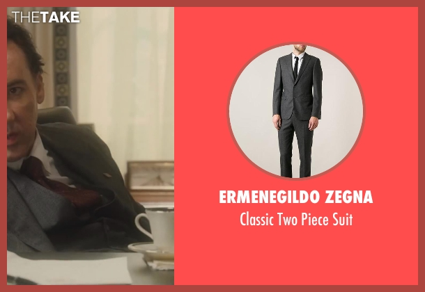 Ermenegildo Zegna gray suit from Lee Daniels' The Butler seen with No Actor (Richard Nixon)