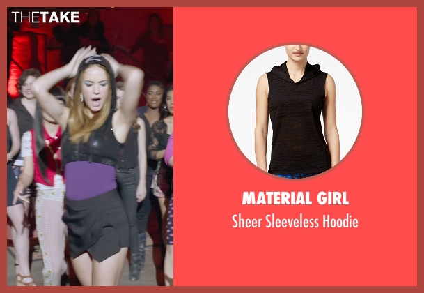 Material Girl black hoodie from Pitch Perfect 2 seen with No Actor (Stacie)