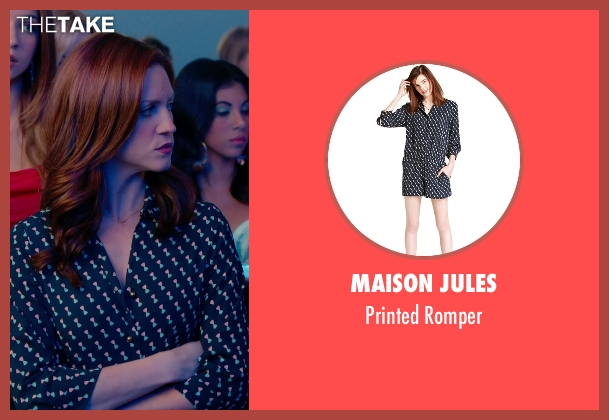 Maison Jules blue romper from Pitch Perfect 2 seen with No Actor (Stacie)