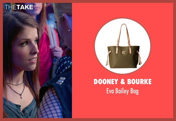 Dooney & Bourke green bag from Pitch Perfect 2 seen with No Actor (Stacie)