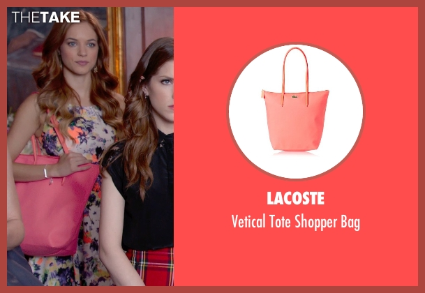Lacoste pink bag from Pitch Perfect 2 seen with No Actor (Stacie)